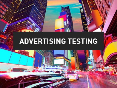 Advertising testing - market research and survey software