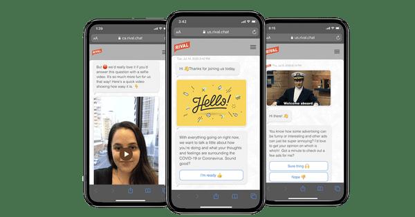 Chat - Conversational surveys in Mobile Communities