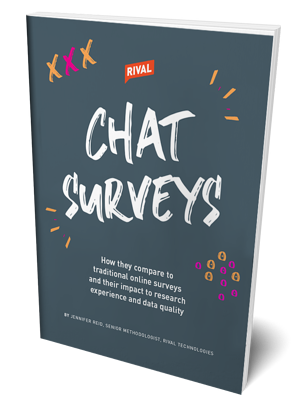 Research on research on conversational surveys or chat surveys - from Rival Technologies